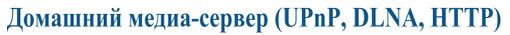 Домашний медиа-сервер (UPnP, DLNA, HTTP)